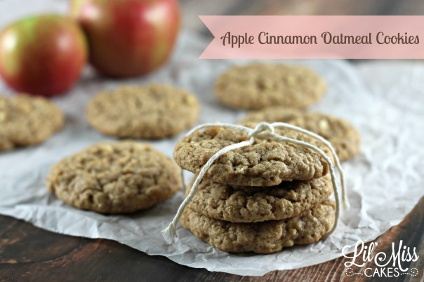 Apple Cinnamon Oatmeal Cookies | Lil Miss Cakes