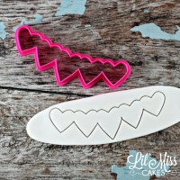 Multi Heart Banner Cutter | Lil Miss Cakes