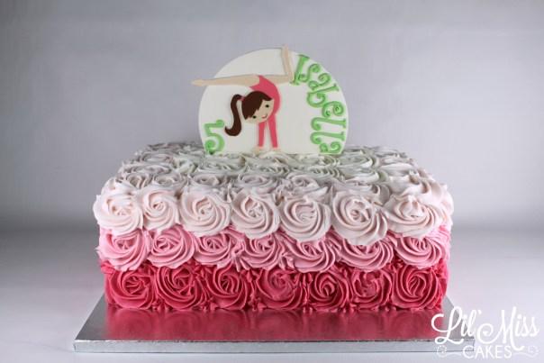 Gymnastics Cake | Lil Miss Cakes