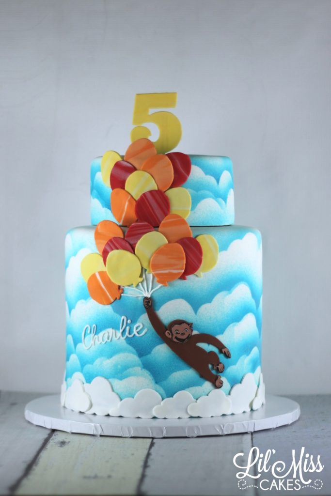 Excellent Curious George Cake Lil Miss Cakes Personalised Birthday Cards Paralily Jamesorg