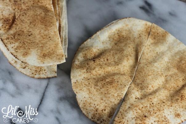 Pita Chip Process 1 | Lil Miss Cakes
