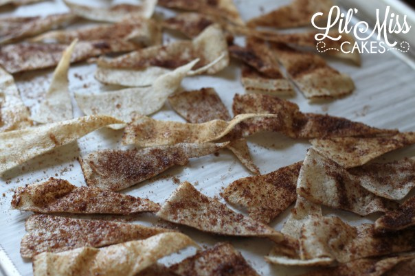 Pita Chip Process 9 | Lil Miss Cakes