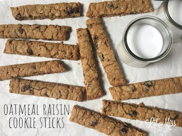 Oatmeal Raisin Cookie Sticks