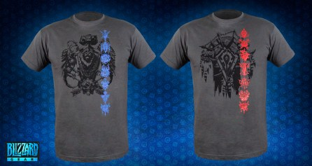 World of Warcraft Alliance and Horde Crest T-Shirts