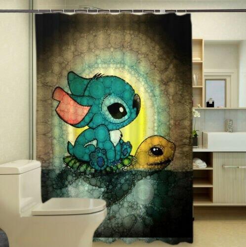 acheter rideau de douche baignoire lilo et stitch a pas chere