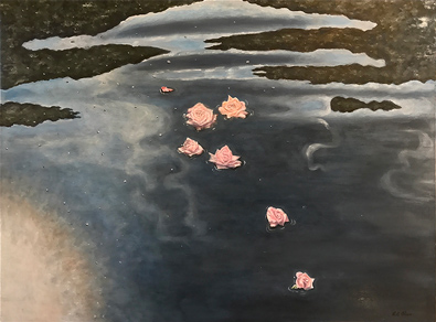 Floating Roses - Lil Olive Art