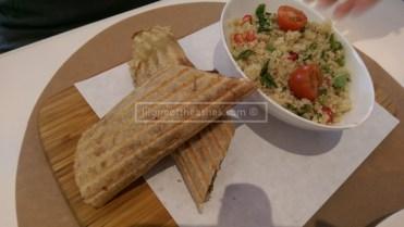 Shawarma with Quinoa salad on the side