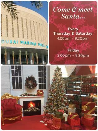 Meet Santa at Dubai Marina Mall!