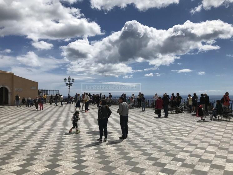 The beautiful Piazza IX Aprile