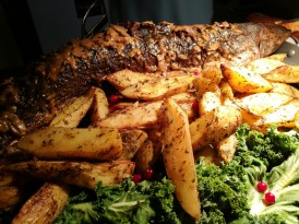 Whole grilled Salmon