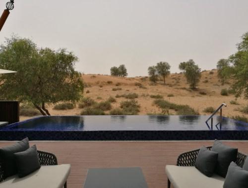 Pool overlooking the desert