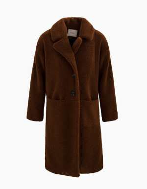 IKKS-MANTEAU COGNAC EN FOURRURE SYNTHETIQUE I_CODE-QR44074-65_1