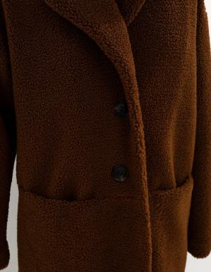 IKKS-MANTEAU COGNAC EN FOURRURE SYNTHETIQUE I_CODE-QR44074-65_2