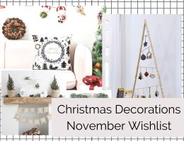 WISHLIST DE NOVEMBRE 2020 | CHRISTMAS DECORATIONS