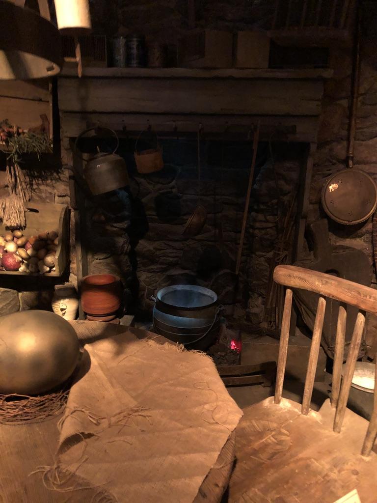 la cabane d'Hagrid avec l'oeuf de dragon posé sur la table