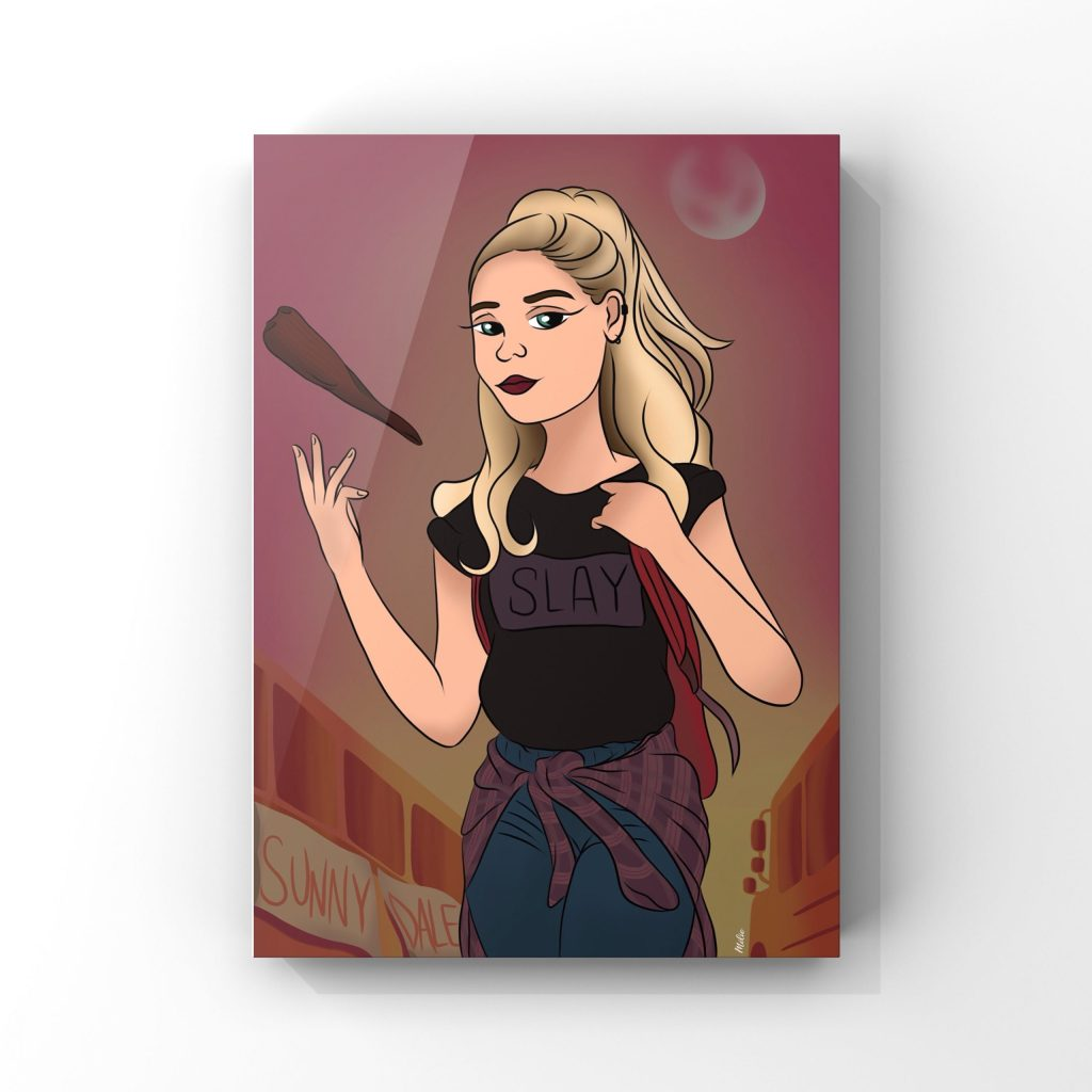 Buffy Summers illustration du personnage de Buffy contre les vampires