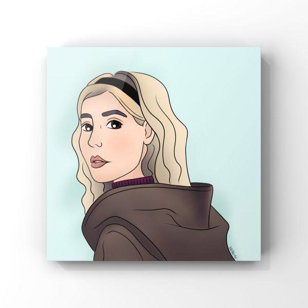 Illustration de Sabrina Spellman dans Les nouvelles aventures de Sabrina de Netflix