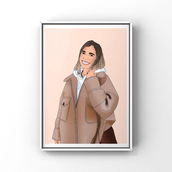Illustration personnalisée pour 1 personne