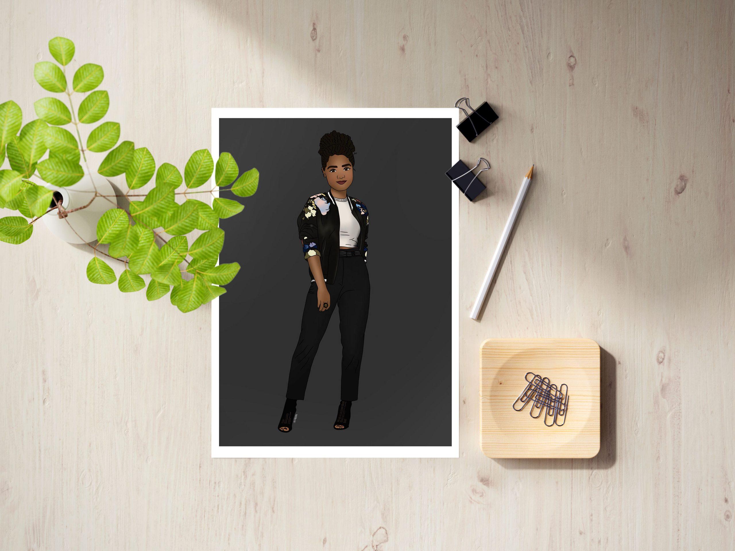 Illustration de Kat Edison, personnage de la série The Bold Type. Rendez-vous sur Lilovia.com pour voir le reste de la collection.