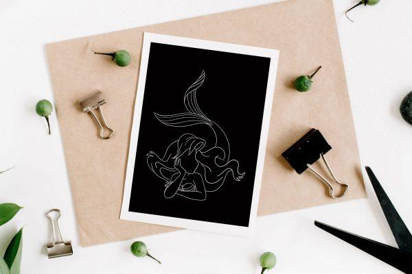 Ariel Illustration de la petite sirène de Disney