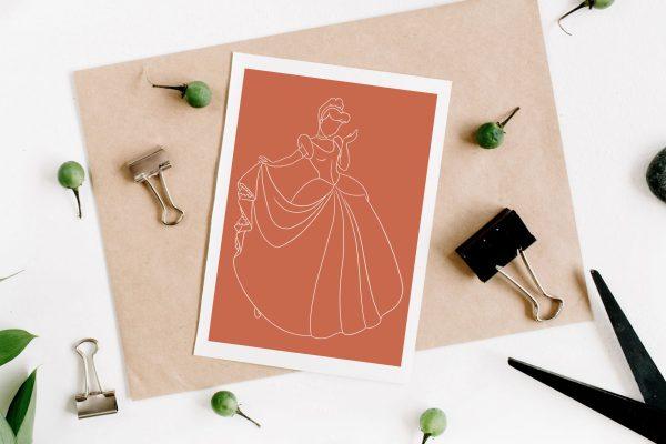 Illustration de la princesse Cendrillon de Disney