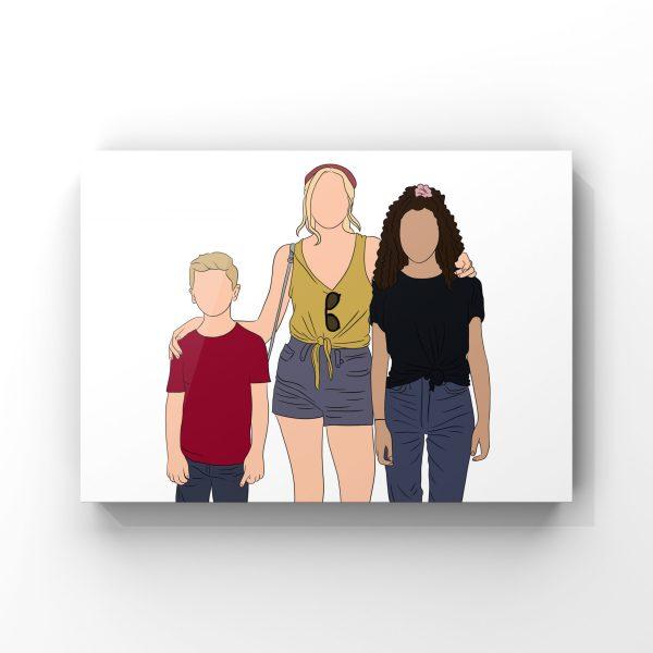 Illustration personnalisée pour la fête des mères 2021