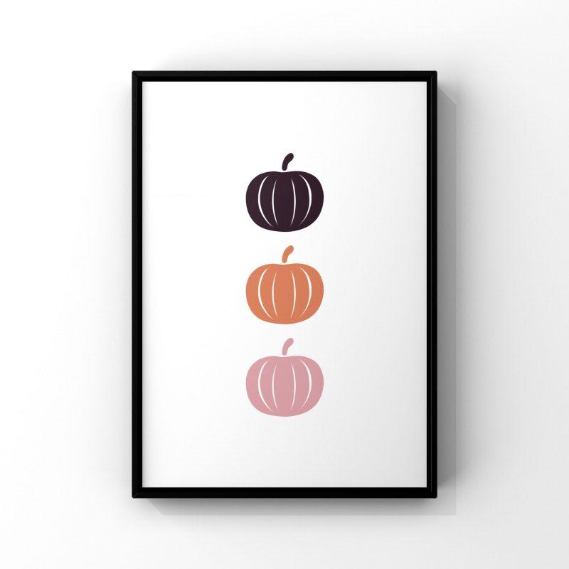 Affiche pumpkin de la marque lilovia pour décorer votre chambre pour halloween le 31 octobre 2021
