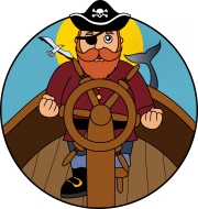 snack shack logo with Lil Skipper at wheel