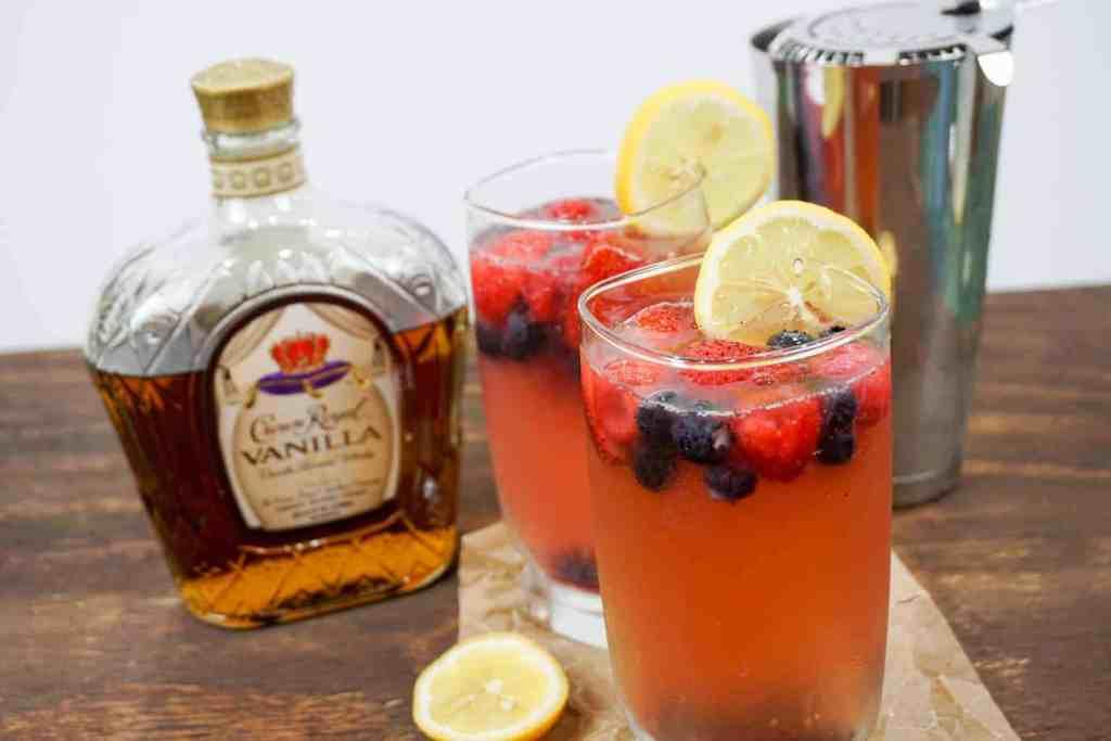 "Crown Royal Vanilla Mixed Berry Lemonade -- ""Grown folk"" lemonade has never tasted so good! --lilsweetspiceadvice.com"