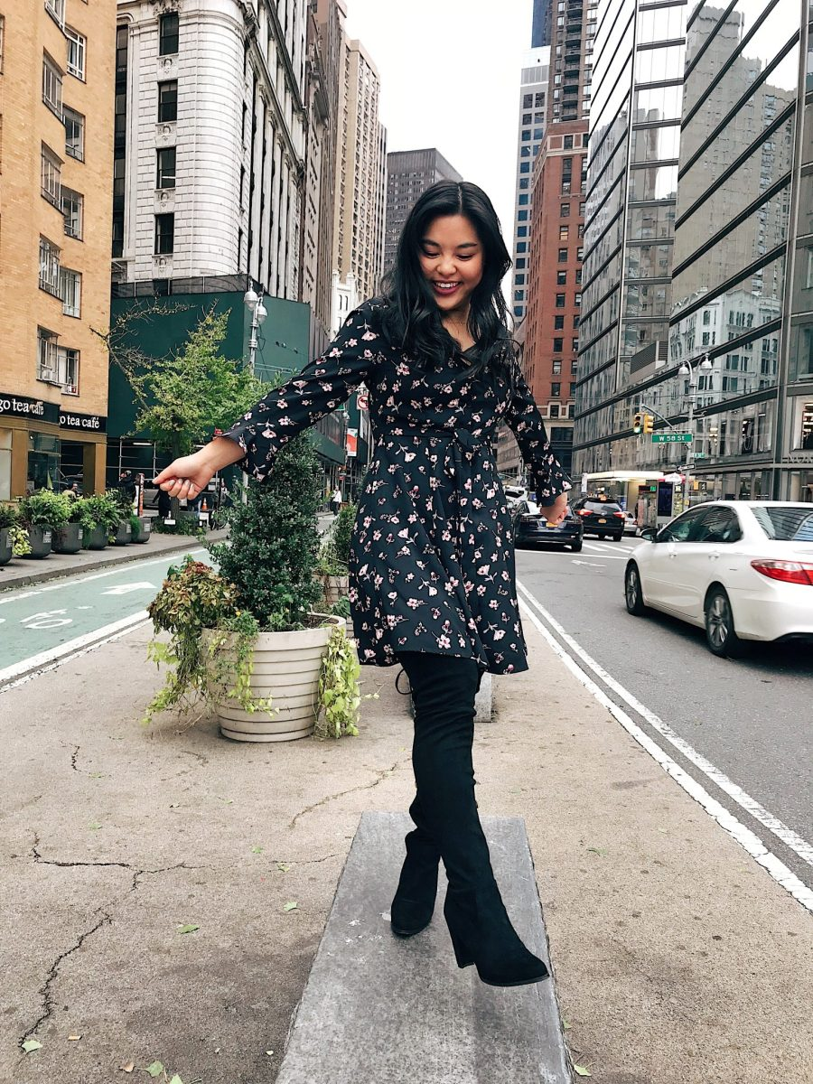 How to Wear Floral Prints in Winter