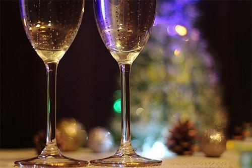 クリスマスの乾杯