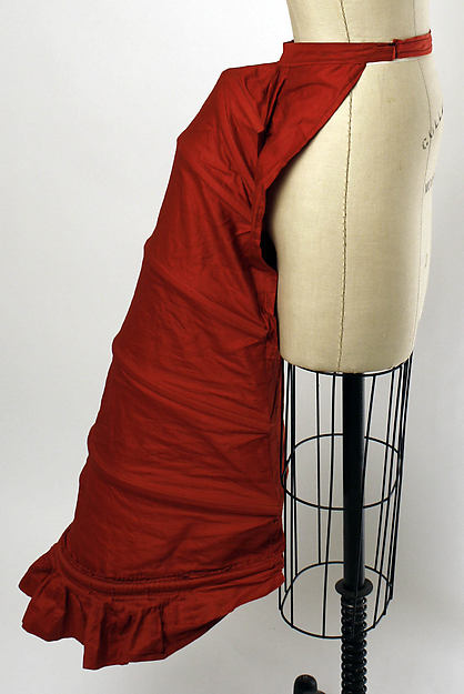 Bustle, American, 1870s; Made of cotton; Metropolitan Museum of Art ( 2008.89)