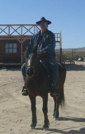 One of the many jobs I wound up doing was working with a horse that a rider was having trouble with...ride 'em cowboy! :-)