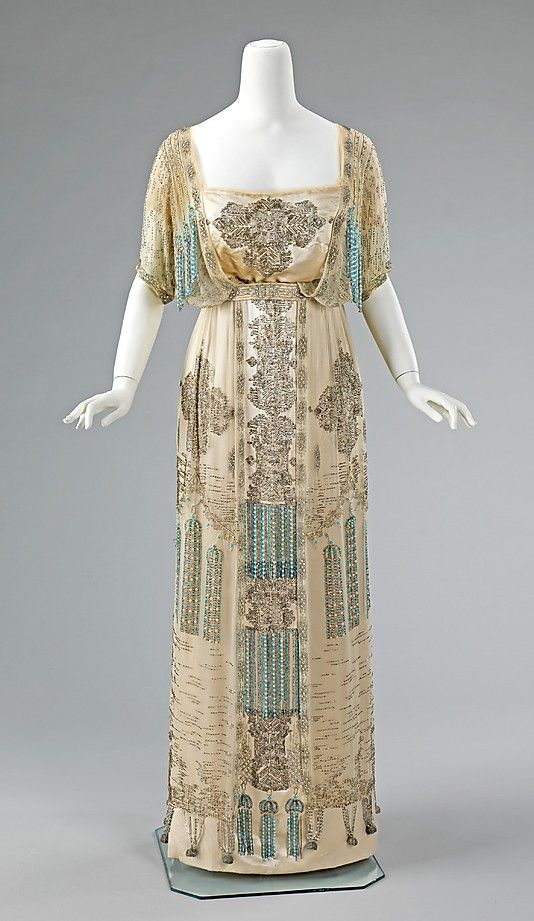 Evening Dress, French, c. 1909 - 1911; Metropolitan Museum of Art (2009.300.1333a, b)