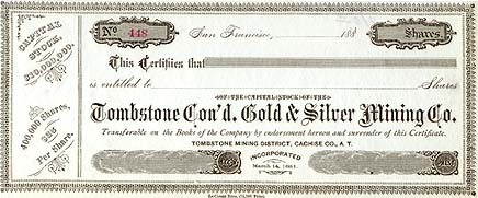 Unissued Certificate
