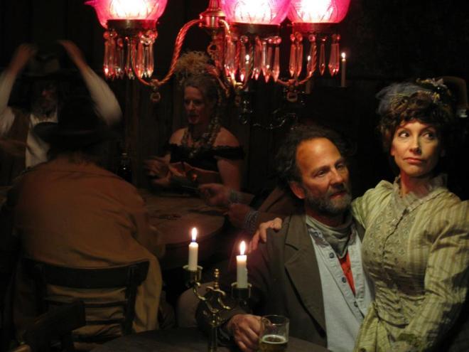Night scene in the saloon.