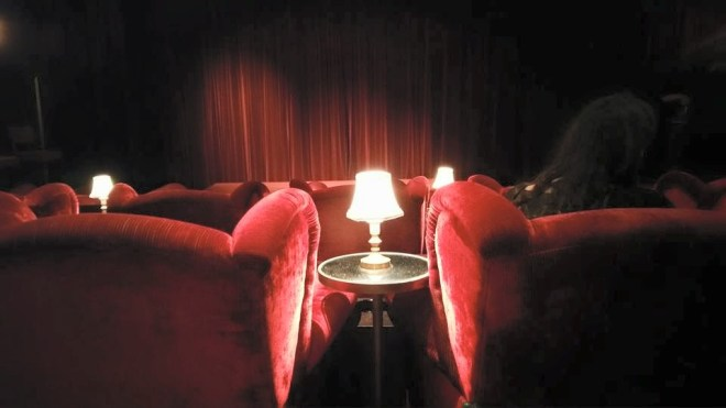 The screening room- I'd love to have this in my house.