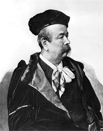 Anglo-French costumier and dress designer Charles Frederick Worth (1825 - 1895 ). Born in Lincolnshire, he moved to Paris and his establishment became the centre of the fashion world.    (Photo by Hulton Archive/Getty Images)