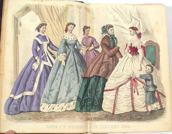 Godey's Ladysbook, January 1866