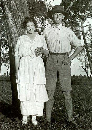 Karen Blixen and her brother Thomas Dinesen, c. 1920s.