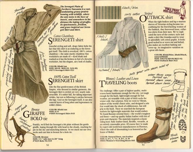 From Banana Republic Catalog No. 22, Spring 1985.