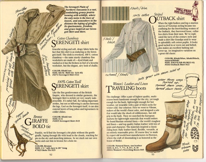 From Banana Republic Catalog No. 22, Spring 1985.