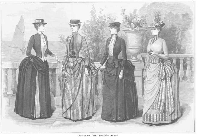 Yachting and Tennis Dresses from Harper_s_Bazaar_1887