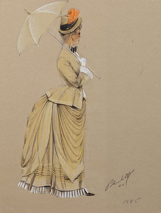 Costume Sketch by Walter Plunkett for the movie How The West Was Won