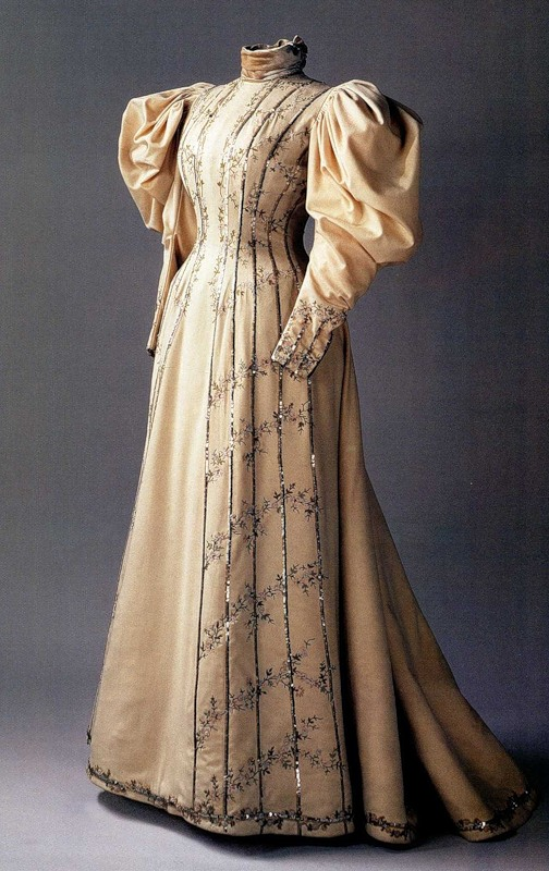 Day Dress Princess Line Mid 1890s c. 1894-1897 Visiting