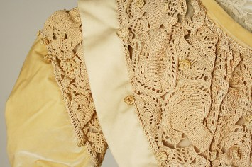 Detail of lace on the upper bodice.