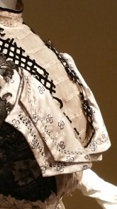 Detail of the bodice front.