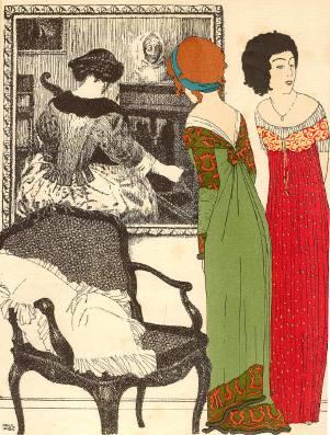 Paul Iribe, Les Robes de Paul Poiret, Plate I (1908)
