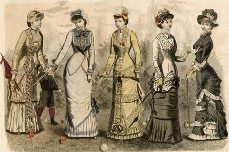 1881 American Fashion Croquet Dresses