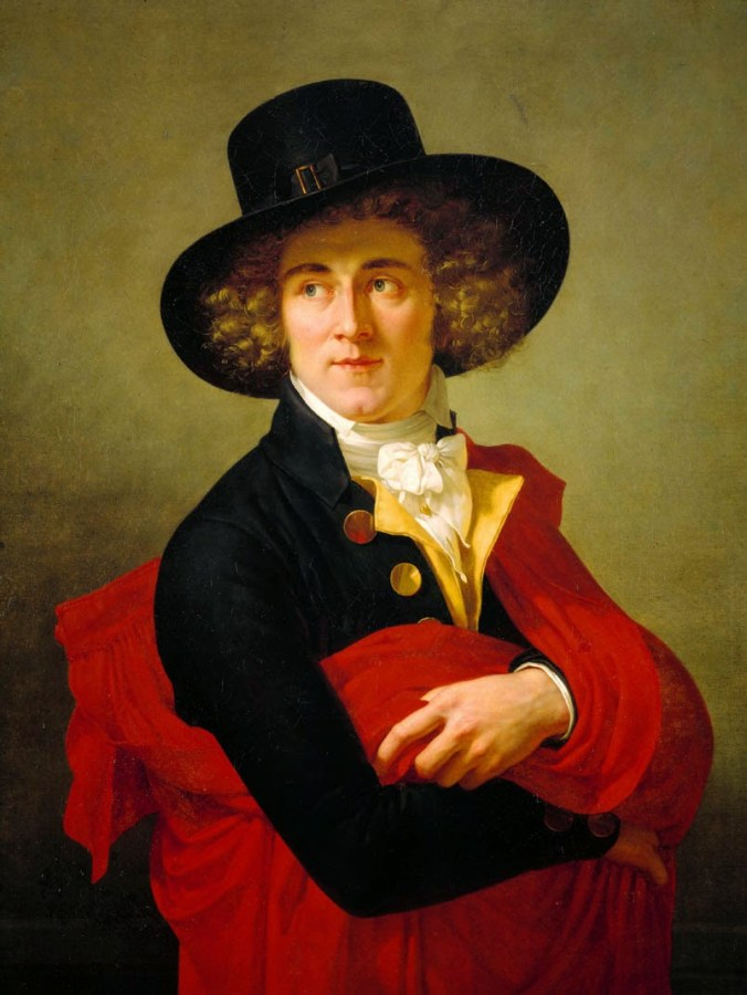 portrait-of-a-young-man-wearing-a-red-cape-and-large-hat-ca-1795-1800-by-francois-xavier-fabre
